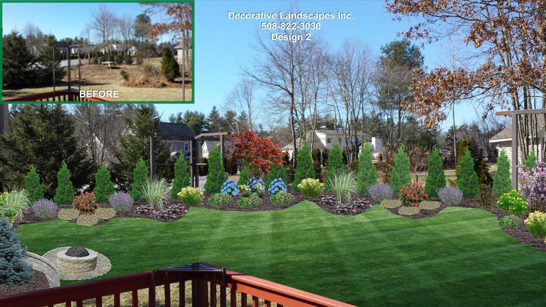 landscape designs backyard backyard landscape design, raynham, ma ZVLGUIM