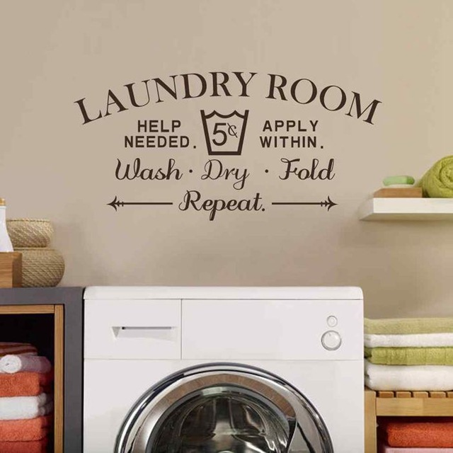 laundry room decor battoo laundry room wall decal - wash dry fold wall stickers EFLDTYG
