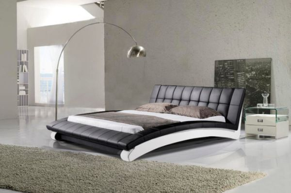 leather beds ... leather bed and subtle yellow accents view ... GLFQFTR