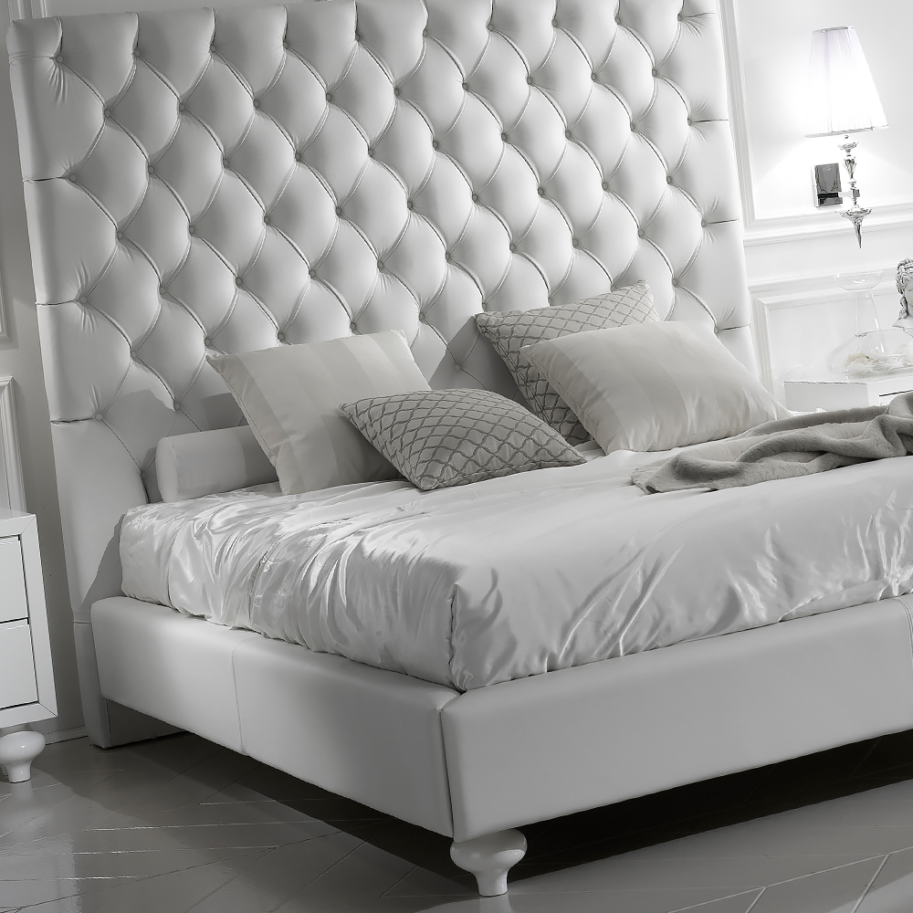 leather beds white italian luxury leather bed GWIVDDP