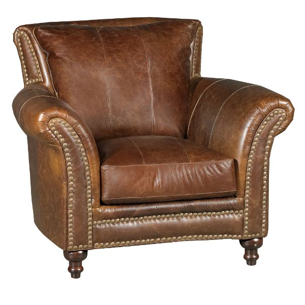leather chairs 1669-2239-01/5507/ch classic traditional brown leather chair - butler ... XGDMURF
