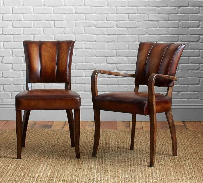 leather chairs elliot leather dining chair CBVOXQA