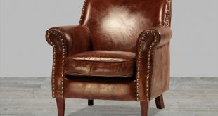 leather chairs hand finished vintage leather club chair with antique brass nailheads GLUTPWA