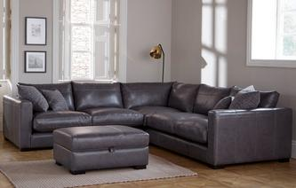 Leather Corner Sofa Dillon Leather Small Corner Sofa Dillon Leather ...  PPQVLCA