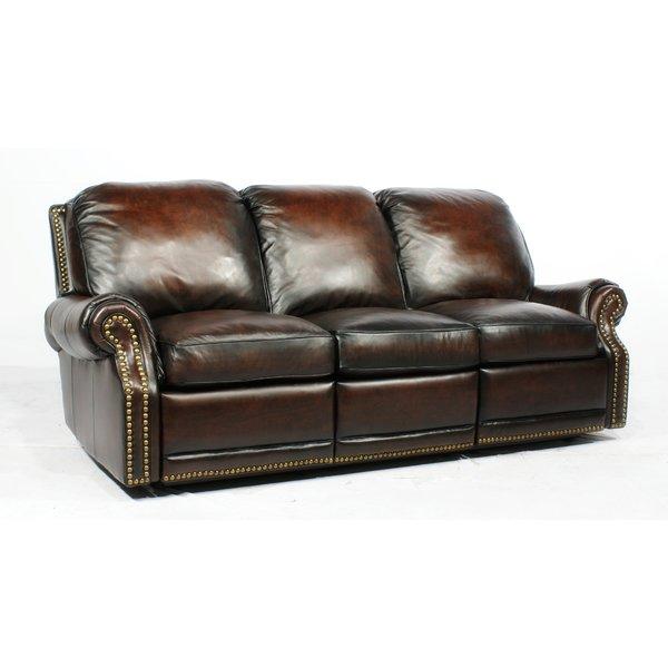 leather recliner sofa barcalounger premier ll leather reclining sofa u0026 reviews | wayfair DMYAFOX