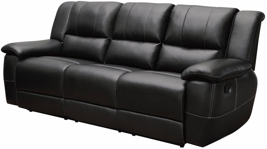 leather recliner sofa black bonded leather reclining sofa stores chicago HKLBTEW