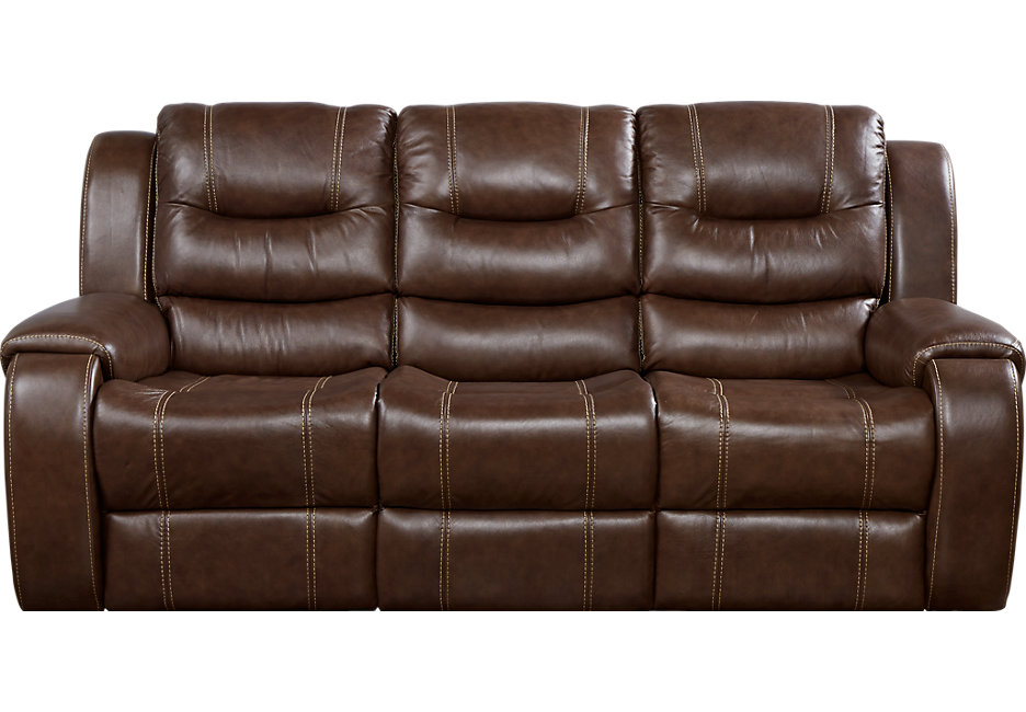leather recliner sofa veneto brown leather reclining sofa - leather sofas (brown) TZUZXIU