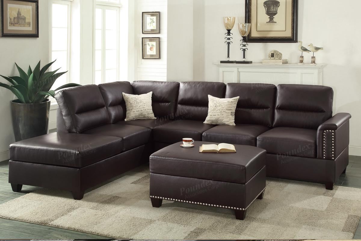 leather sectional sofas rousey brown leather sectional sofa KOUJICP