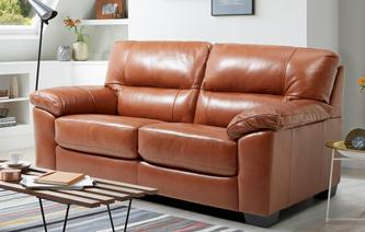 leather sofa bed dalmore large 2 seater sofabed brazil with leather look fabric TEDLXFM