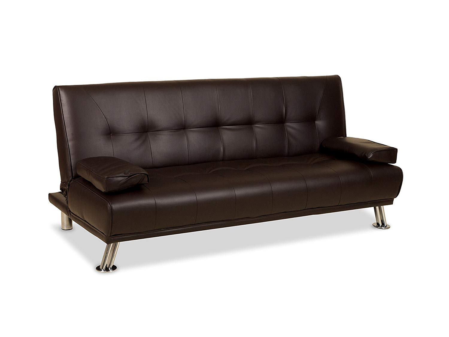 leather sofa bed humza amani venice faux leather sofa suite sette sofabed with chrome NGMOHXX