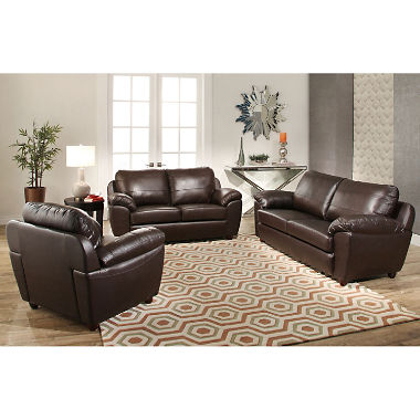 leather sofa set mavin top-grain leather sofa, loveseat and armchair set FDGFIVW
