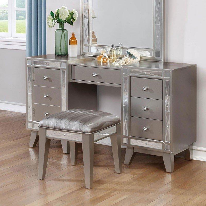 leighton vanity desk w/ stool KXQQTDA