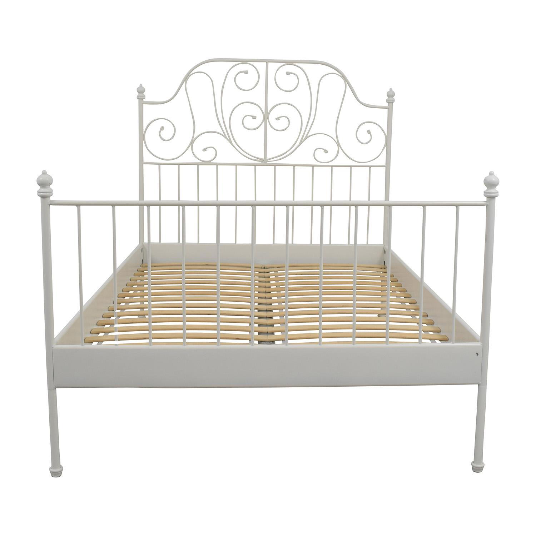 leirvik bed frames ikea leirvik full size bed frame sale ... DTYKJEP