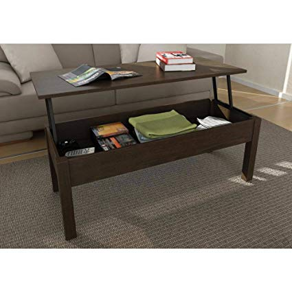 lift top coffee table mainstays lift-top coffee table // color: espresso KMHIUSY