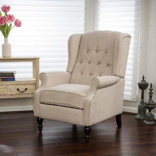 living room chairs christopher knight home walter light beige fabric recliner club chair (5 OJPCULA