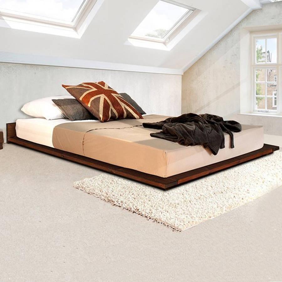 low bed frames low wooden modern bed frame ZQJWEHK