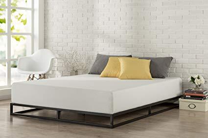 low bed frames zinus modern studio 6 inch platforma low profile bed frame, mattress WWPCPLF