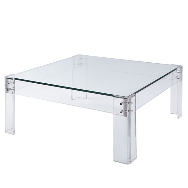 lucite coffee table ... wisteria disappearing coffee table ... UHFNTFS