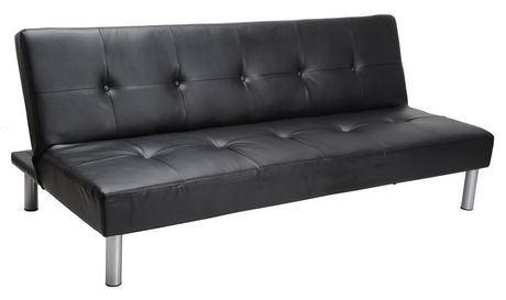 mainstays faux leather sofa bed - black | walmart canada JKEMEJG