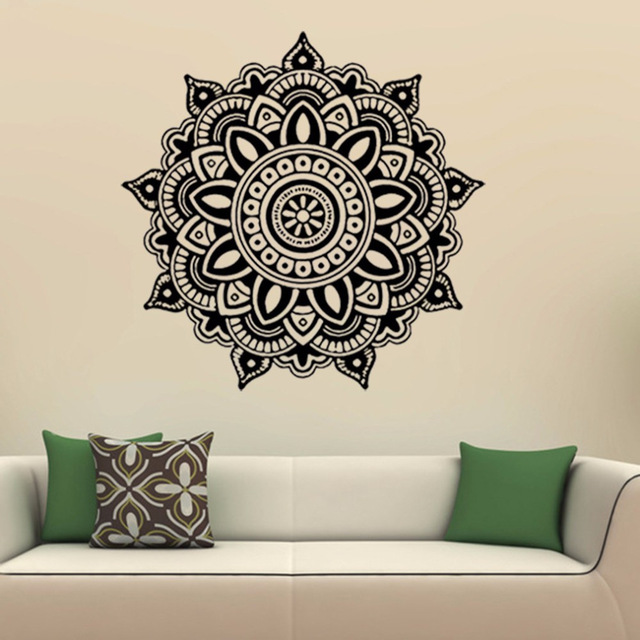 mandala flower indian wall art stickers mural home bedroom wall stickers RLLHDXE