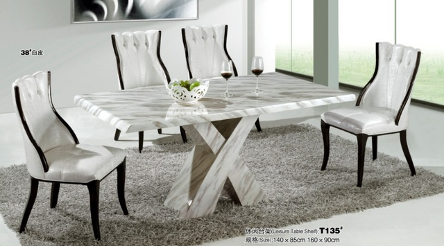 marble dining table modern marble dining room furniture VJKRNUS