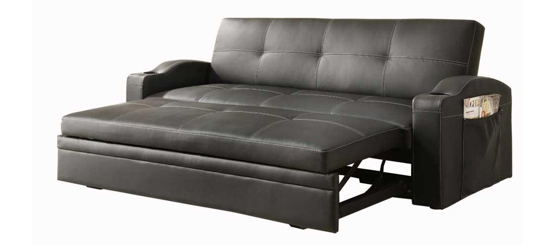 master pull out couch homelegance 4803blk black bi cast vinyl convertible NLEKZLT