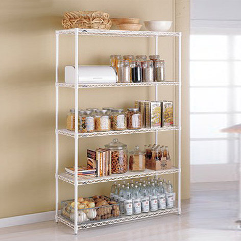 metal kitchen shelves - intermetro kitchen shelves | the container store QDFWKBK