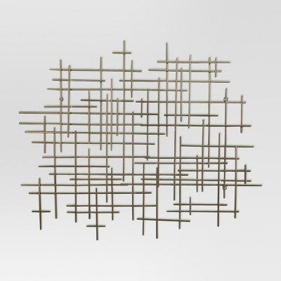metal wall decor mid-century metal wall décor gold 36x30 LBNCOFN