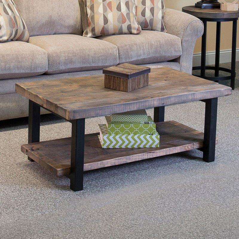 metal wood coffee table loon peak somers 42 reviews wayfair home PVTTNSH