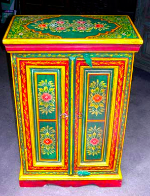 mexican furniture painted cabinet looks like russia scarf or panski egg KDMIWLT
