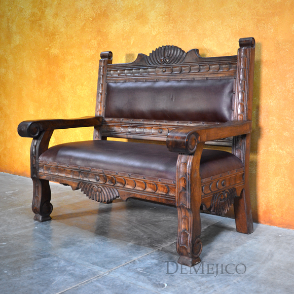 mexican furniture santa fe bench, carved benches, mexican benches, southwest furniture, mexican GHYGTZQ
