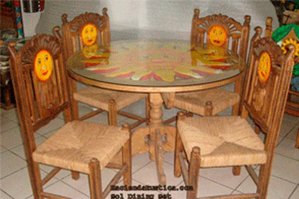 mexican furniture sol dining set - hacienda rustica JPRDEVY