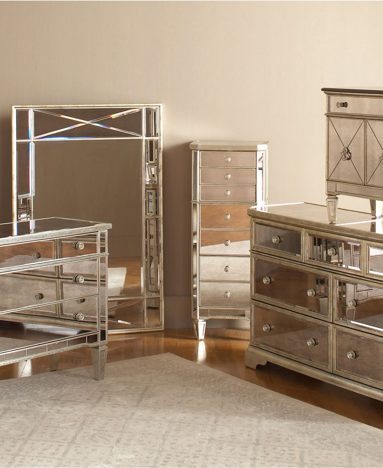 mirrored bedroom furniture marais bedroom furniture sets u0026 pieces - furniture - macyu0027s RZWSGYL