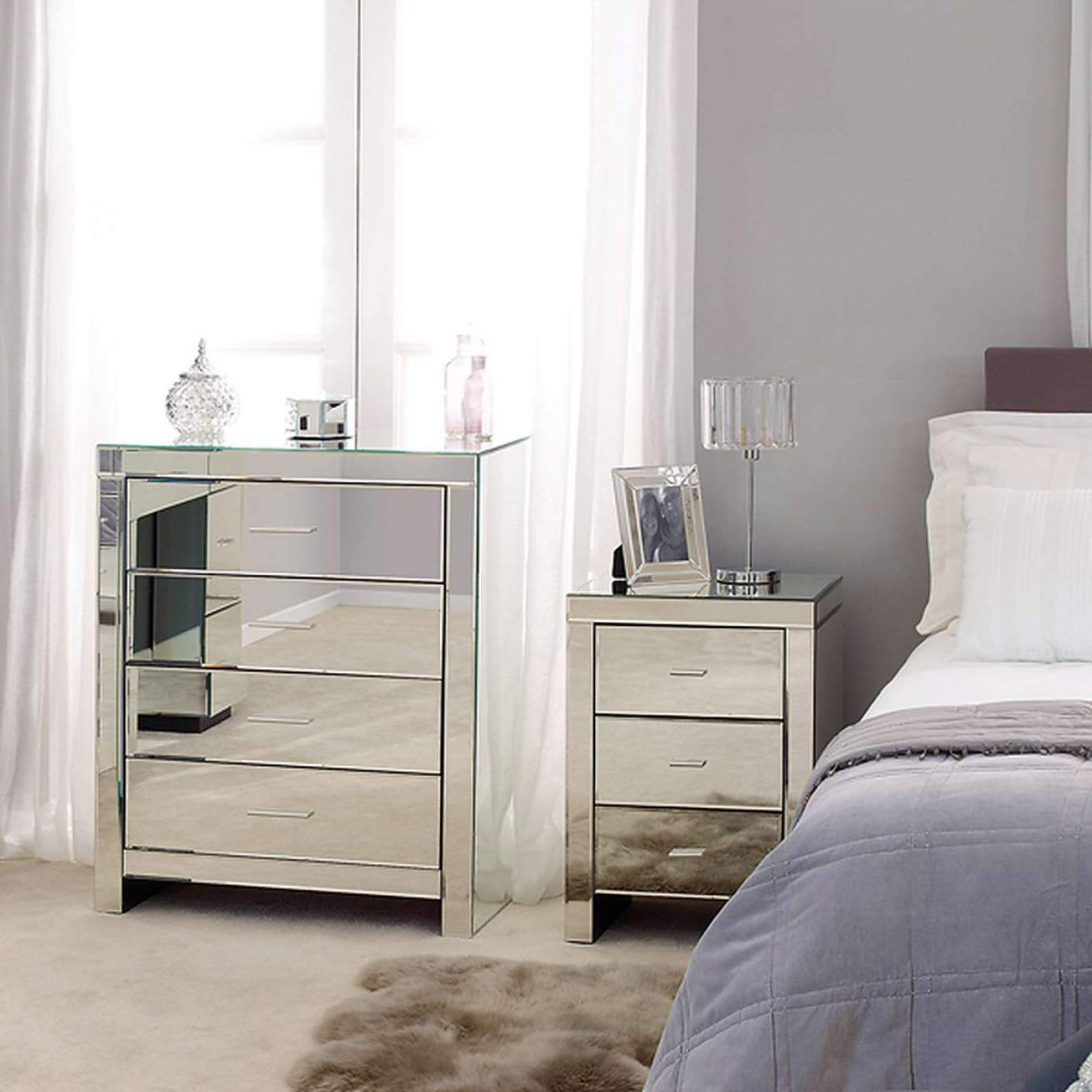 mirrored bedroom furniture PCDRSUH