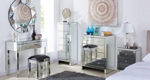 mirrored bedroom furniture ... SSOXQPB