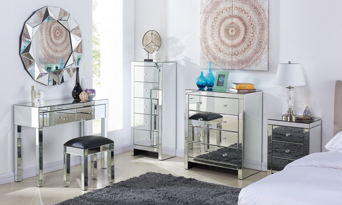 Superbe Stunning Mirrored Bedroom Furniture For Elegant Interiors