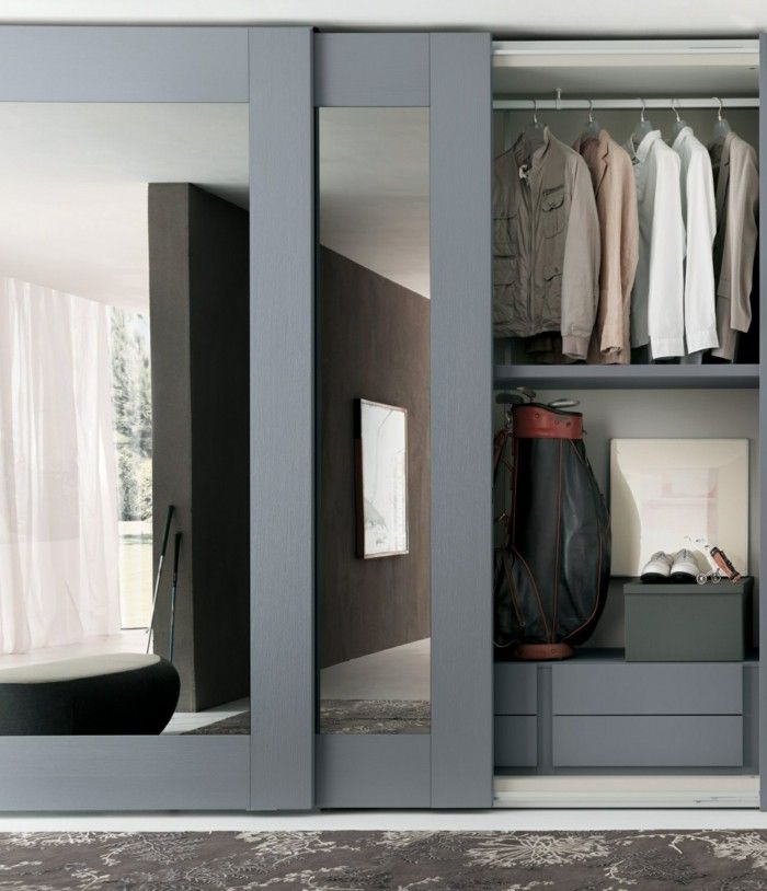 mirrored closet designs wardrobe design sliding mirror ZAAXDRH