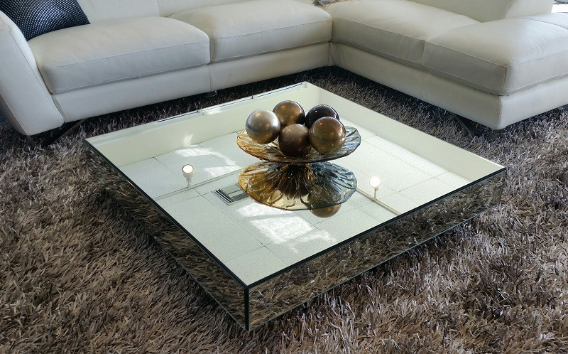mirrored coffee table square mirrored contemporary coffee table JGIAZIO