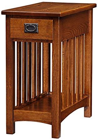 mission furniture amazon.com: leick furniture mission side table, medium oak: kitchen u0026 dining WQIGTMF