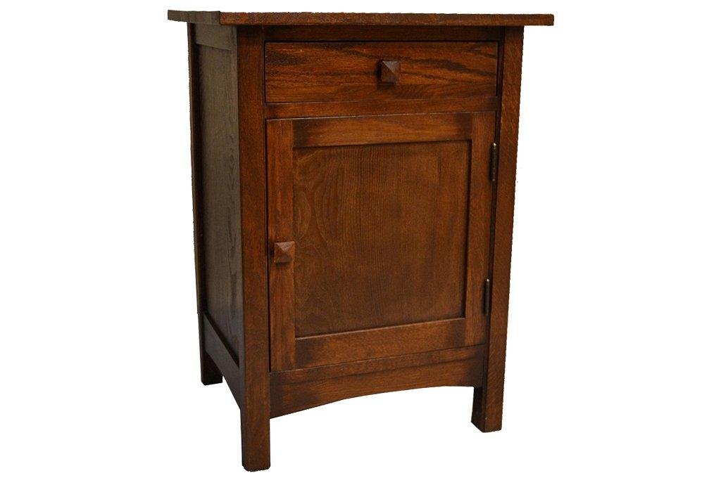 mission furniture mission 1 door 1 drawer end table GUNMNCP