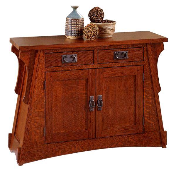 mission furniture quarter sawn oak mission craftsman sofa console table KTEVPGA