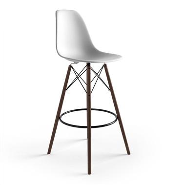 modern bar stools molded plastic bar stool with wood legs SSIWEZA