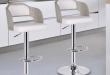 modern bar stools white adjustable bar stool GVSWGBK