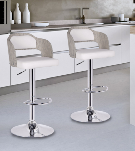 Modern Bar Stools White Adjule Stool Gvswgbk