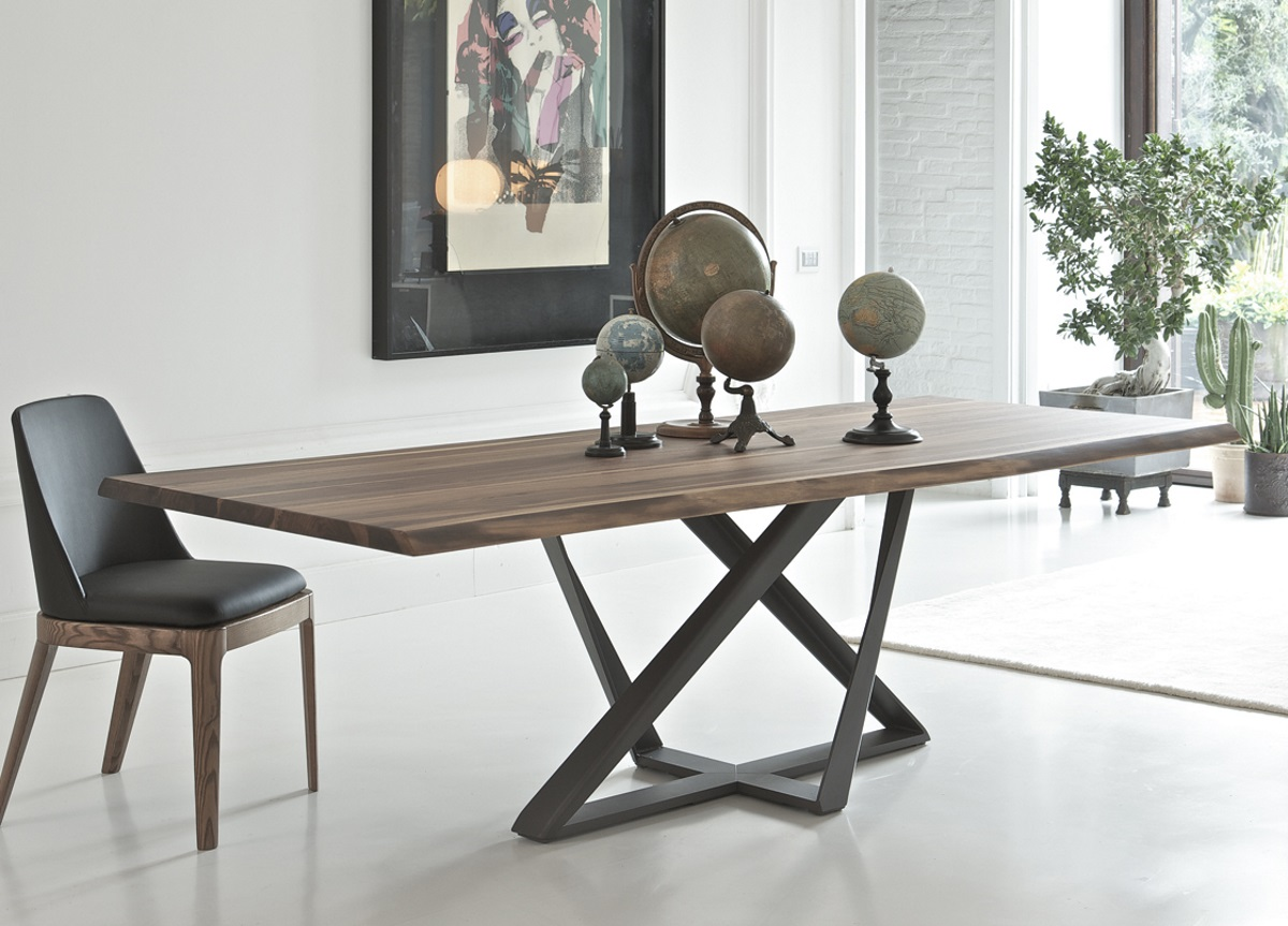 modern dining tables bontempi millennium wood dining table EQKEYPI