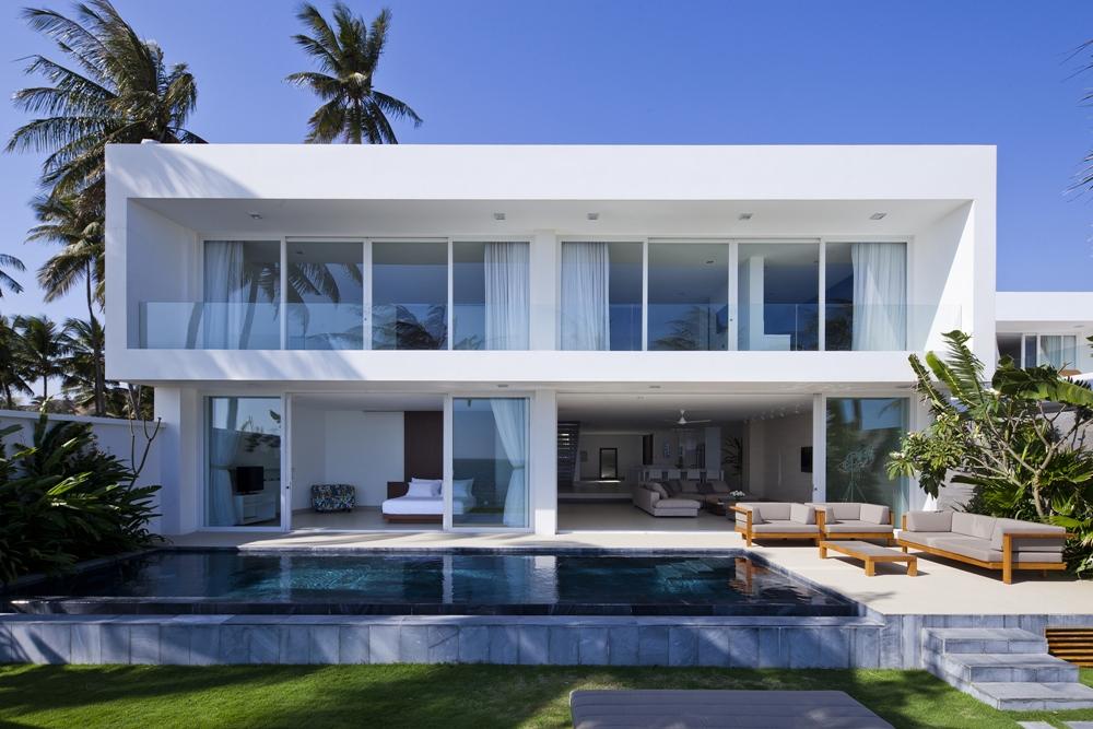 Modern House Design White Modern Facade VWTSAEJ
