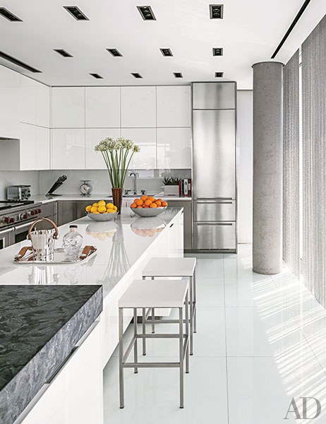 modern kitchens a west village, manhattan, kitchen in a sleek building by richard ZNWJZJT
