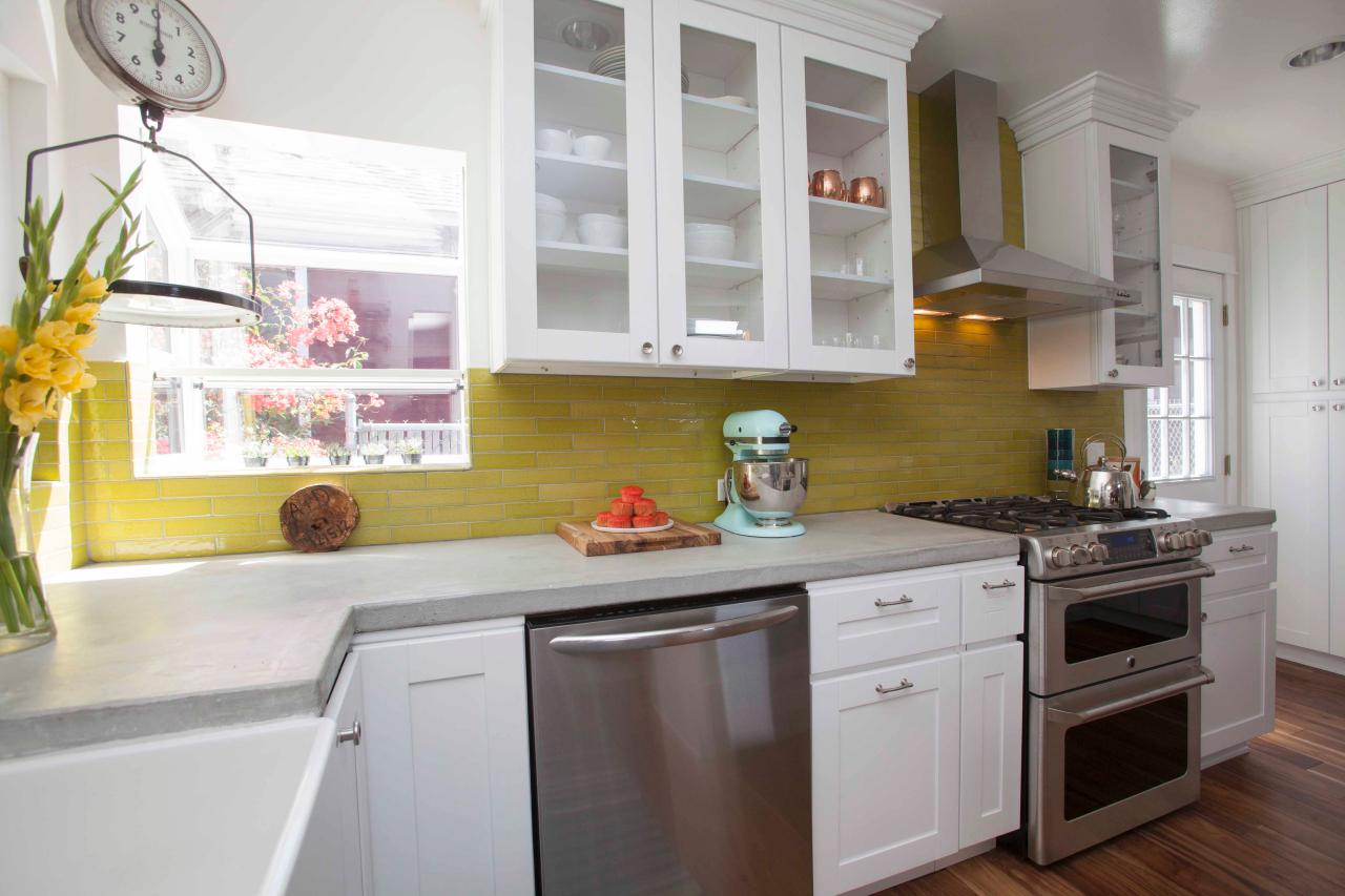 modern remodel kitchen ideas 7. color it big RWONMYH