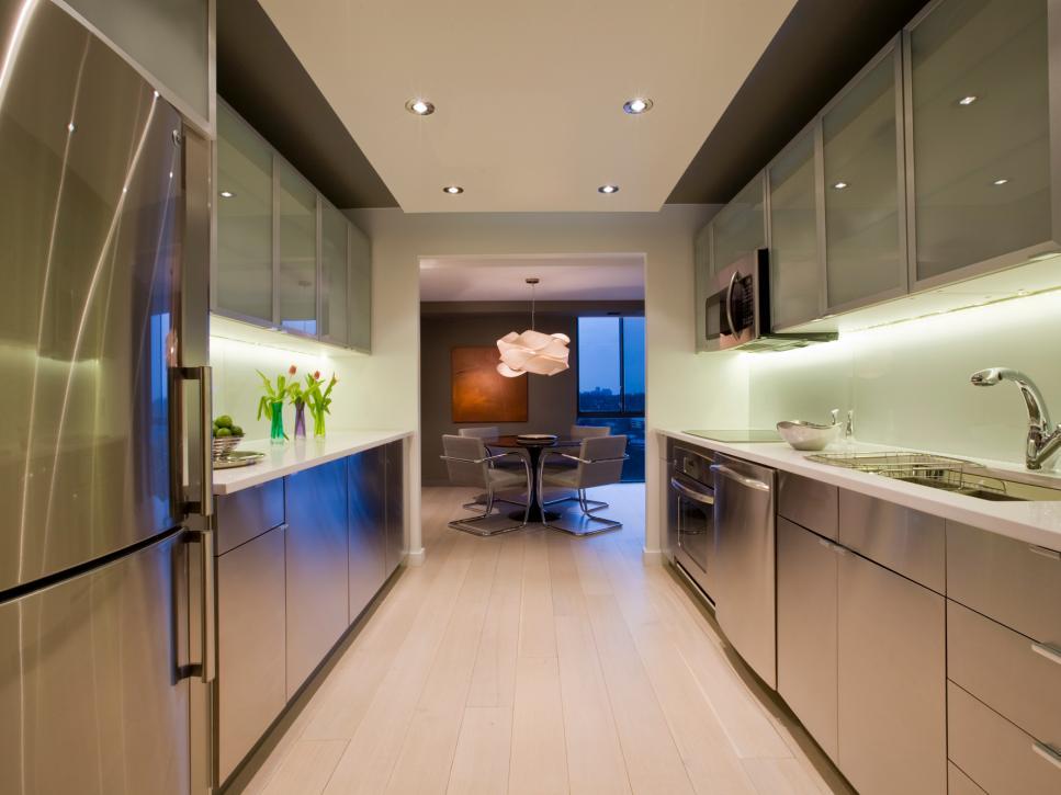 modern remodel kitchen ideas galley kitchen remodel ideas | hgtv CJYFUPA