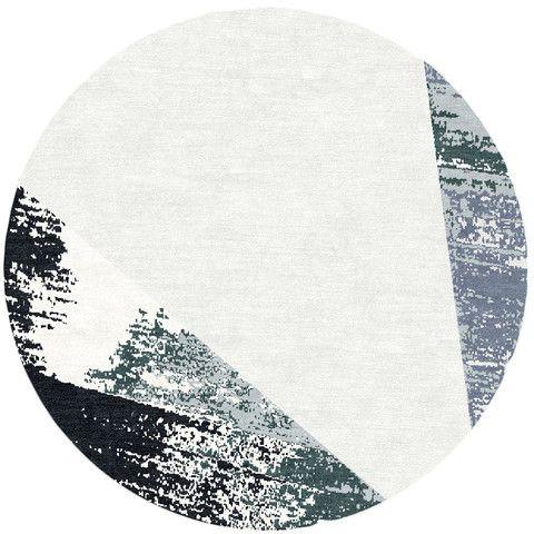 modern round rugs circlet snow modern circle rug design - kush handmade rugs in XOGXUVK